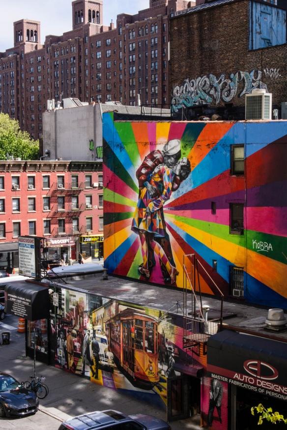 New York'ta duvarlar renkli